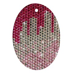 Mauve Gradient Rhinestones  Ceramic Ornament (oval) by artattack4all