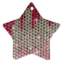 Mauve Gradient Rhinestones  Ceramic Ornament (star) by artattack4all