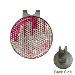 Mauve Gradient Rhinestones  Hat Clip With Golf Ball Marker by artattack4all