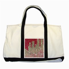 Mauve Gradient Rhinestones  Two Toned Tote Bag by artattack4all