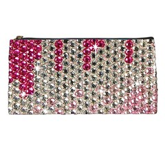 Mauve Gradient Rhinestones  Pencil Case by artattack4all