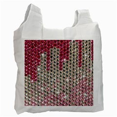 Mauve Gradient Rhinestones  Single-sided Reusable Shopping Bag by artattack4all