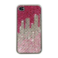 Mauve Gradient Rhinestones  Apple Iphone 4 Case (clear) by artattack4all