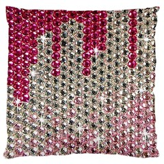 Mauve Gradient Rhinestones  Large Cushion Case (two Sides) by artattack4all