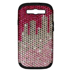 Mauve Gradient Rhinestones  Samsung Galaxy S Iii Hardshell Case (pc+silicone) by artattack4all
