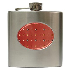 Studded Faux Leather Red Hip Flask by artattack4all