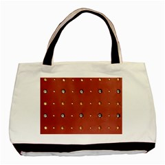 Studded Faux Leather Red Black Tote Bag by artattack4all