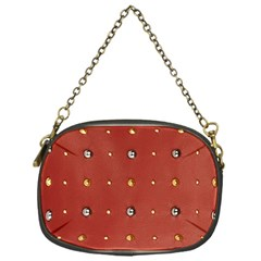Studded Faux Leather Red Single Sided Evening Purse by artattack4all