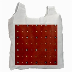 Studded Faux Leather Red Twin Sided Reusable Shopping Bag by artattack4all