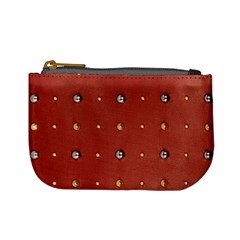 Studded Faux Leather Red Coin Change Purse by artattack4all