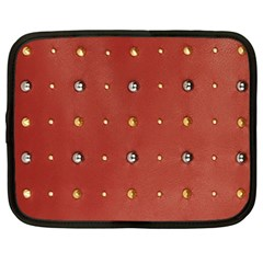 Studded Faux Leather Red 13  Netbook Case by artattack4all
