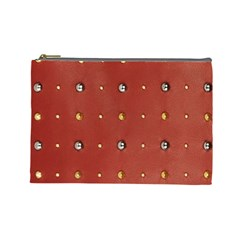 Studded Faux Leather Red Large Makeup Purse by artattack4all