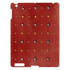 Studded Faux Leather Red Apple Ipad 3/4 Hardshell Case by artattack4all