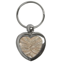 Tri Colored Bling Design Key Chain (heart) by artattack4all
