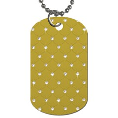 Gold Diamond Bling  Twin Sided Dog Tag by artattack4all