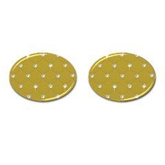 Gold Diamond Bling  Oval Cuff Links by artattack4all