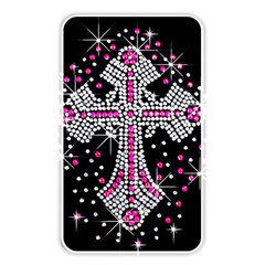 Hot Pink Rhinestone Cross Card Reader (rectangle) by artattack4all