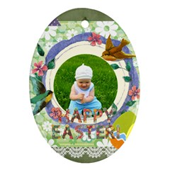 Easter By Jo Jo   Oval Ornament (two Sides)   5eymiknh4dq5   Www Artscow Com Front