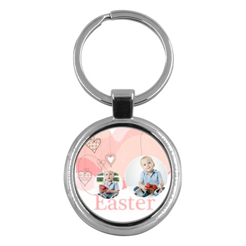 Easter By Easter   Key Chain (round)   Jv1w3gbksxzv   Www Artscow Com Front