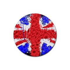 Distressed British Flag Bling 4 Pack Rubber Drinks Coaster (round) by artattack4all