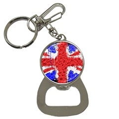 Distressed British Flag Bling Key Chain With Bottle Opener by artattack4all