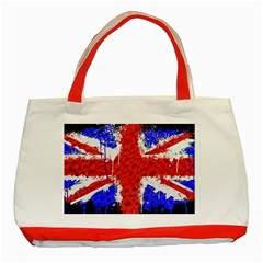 Distressed British Flag Bling Red Tote Bag by artattack4all