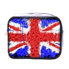 Distressed British Flag Bling Single Sided Cosmetic Case