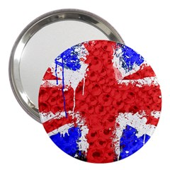 Distressed British Flag Bling 3  Handbag Mirror by artattack4all