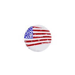 Sparkling American Flag Mini Magnet (round) by artattack4all