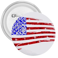 Sparkling American Flag Large Button (round) by artattack4all