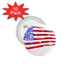 Sparkling American Flag 10 Pack Small Button (round) by artattack4all