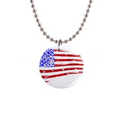 Sparkling American Flag Mini Button Necklace by artattack4all