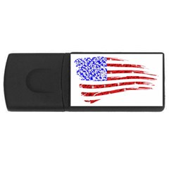Sparkling American Flag 4gb Usb Flash Drive (rectangle) by artattack4all