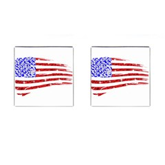 Sparkling American Flag Square Cuff Links by artattack4all
