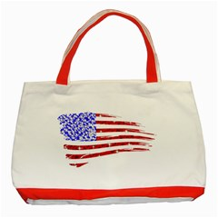 Sparkling American Flag Red Tote Bag by artattack4all