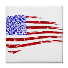 Sparkling American Flag Face Towel by artattack4all