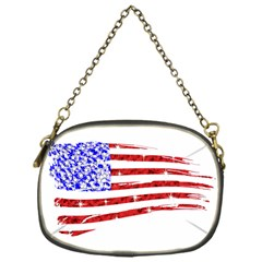 Sparkling American Flag Single Sided Evening Purse