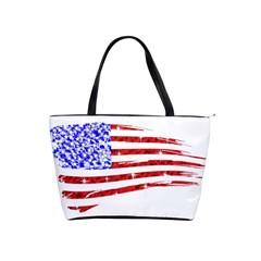 Sparkling American Flag Large Shoulder Bag by artattack4all