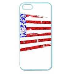 Sparkling American Flag Apple Seamless Iphone 5 Case (color) by artattack4all