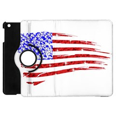 Sparkling American Flag Apple Ipad Mini Flip 360 Case by artattack4all