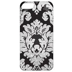 Diamond Bling Glitter On Damask Black Apple Iphone 5 Classic Hardshell Case by artattack4all