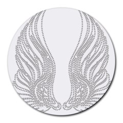 Angel Bling Wings 8  Mouse Pad (round) by artattack4all