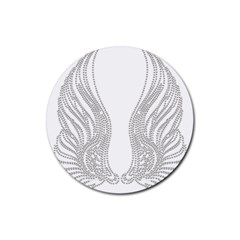 Angel Bling Wings 4 Pack Rubber Drinks Coaster (round) by artattack4all