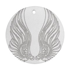 Angel Bling Wings Twin Sided Ceramic Ornament (round) by artattack4all