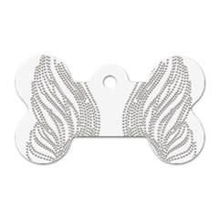 Angel Bling Wings Single Sided Dog Tag (bone) by artattack4all