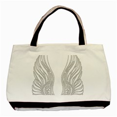 Angel Bling Wings Twin Sided Black Tote Bag by artattack4all