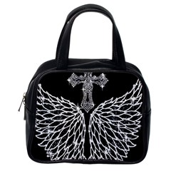 Bling Wings And Cross Single Sided Satchel Handbag by artattack4all