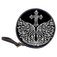 Bling Wings And Cross Cd Wallet by artattack4all