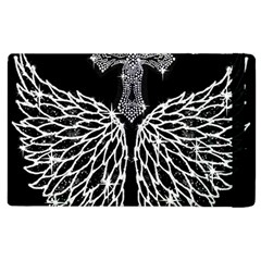 Bling Wings And Cross Apple Ipad 2 Flip Case by artattack4all