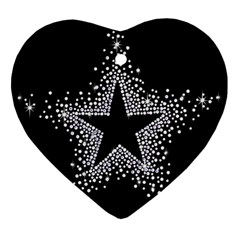 Sparkling Bling Star Cluster Ceramic Ornament (heart) by artattack4all